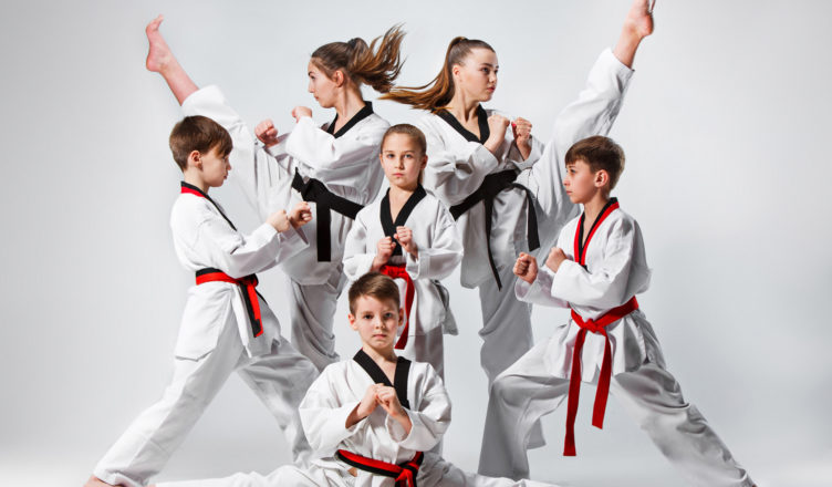 A Hard Punch In Karate And Steel Finger Martial Arts Exercises